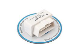 Wholesale Obdii Professional Diagnostic - Wholesale-Best Quality SUPER White MINI ELM327 Bluetooth OBD2 V2.1 Professional OBDII Car Diagnostic interface ELM 327 Free Shipping