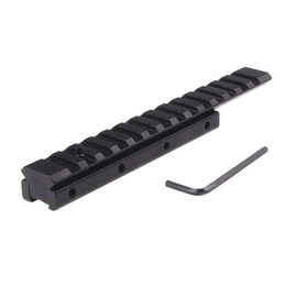 Wholesale Weaver Picatinny Dovetail Adapter - Compact Dovetail to Weaver Picatinny Rail Base Scope Mount Adapter Airgun Scope Mount 11 mm Long Base Adapter