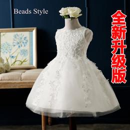 Wholesale Cheap Tanks For Girls - Cheap White Flower Girl Dresses For Weddings Custom Made Tulle Handmade Lined Tank Top and Bottom Tutu Kids Formal Wear Communion Dresses