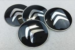 Wholesale Center Caps For Wheels - 56mm 65mm Citroen Logo Car Silver Wheel Hub Center Caps Emblem Styling Auto Wheel Sticker For Citroen C2 C4L C5