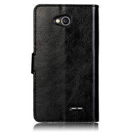 Wholesale Lg Optimus Wallet - Wholesale-Leather slot wallet flip Cover Case For LG Optimus L70 Top Quality Crazy Ma Stripe Phone Cases Voberry