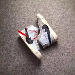 Wholesale Lace White Blazer - 2017 ORIGINAL QUALITY THE TEN OFF WHITE X VIRGIL ABLOH X BLAZER BLAZER MID MEN RUNNING SNEAKERS THE 10 SPORTS SHOES WITH ORIGINAL BOX