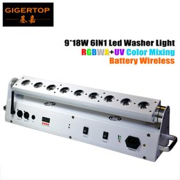 Argentina Batería de litio 9 * 18W DMX Led Wall Washer RGBWA UV 6IN1 Color Control remoto inalámbrico en interiores Uso del certificado CE Suministro