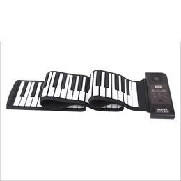 Wholesale Rolling Piano Keyboard - Wholesale-Electronic Portable Roll Up Piano USB Para PC MIDI Controller Keyboard Silicon Flexible 88 Key Teclado Controlador Instruments