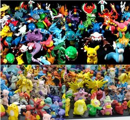 Wholesale Action Brand - Wholesale Cheapest 144pcs lot Brand New Poke figures Toy Black and White Version Poke Action Toys dolls for Kids Free Shipping