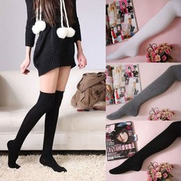 Wholesale Thin Knee High Socks - New 1 Pair Sexy Cotton Over The Knee Socks Thigh High Stocking Thinner Dave