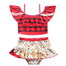 Ropa de natación de la muchacha de Ocean Romance dos piezas dividida traje de baño falda de un hombro chaleco falda traje de baño conjunto para la venta desde fabricantes