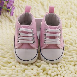 Wholesale Toddler Canvas Shoes Sale - Hot sales White Pink Blue Red pentagram pattern toddler shoes 0-24 months baby wear cheap kid shoes 3pairs=6pcs lot