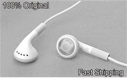Wholesale Headphone Iphone 4s Original - Wholesale-Fast Shipping 100% Original Headphones headset For Apple iPhone 4 4S earphones Volume Control