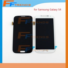 Wholesale Display S4 Blue - White Blue Galaxy S4 LCD display +Tempered Glass touch Assembly For Samsung Galaxy S4 i9500 i9505 M919 L720 i545 R970 i337 Original LCD