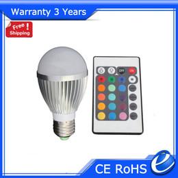 2019 halogênio, inundação, luz, lâmpadas E27 5 W Lâmpada de LED RGB Mudança de Cor 16 Cores Epistar Chip Garantia 3 Anos 50000 h CE RoHS Frete Grátis