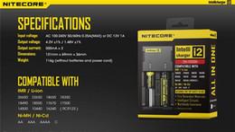 2019 cargadores hoverboard Cargador universal genuino Nitecore I2 para 16340 18650 14500 26650 Cigarrillo electrónico de batería 2 en 1 Función Muliti Código de seguridad Intellicharger
