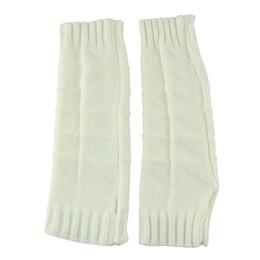 Wholesale Crochet Fingerless Gloves Wholesaler - Wholesale-Modern women's Skin care Fingerless arm Mitten 32cm Long Sleeve Gloves braided knit crochet wool arm warmer gloves jun30