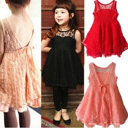 Wholesale Kid Girls Sexy - Phelfish New Design Girls Dresses Kids Clothes Girl Lace Slip Dress Sexy Summer Dresses