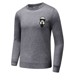 Wholesale M Bulb - hot New Brand Winter mens womens Diamond space cotton sweater Splicing wool lover sweatshirts Bulb skull letter print jumper #9082