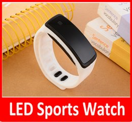 Wholesale Kids Unisex Silicone Strap Watches - wholesale GIFT UNISEX Mens Watches LED Watch Date Sports Bracelet Digital Watch Kids LED watch Candy Silicone Strap Touch Watch.
