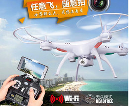 Wholesale Rc 12 - Original Drones SYMA X5SW RC Drone FPV Helicopter Quadcopter with HD Camera 2.4G 6-Axis Real Time RC Helicopter Toy
