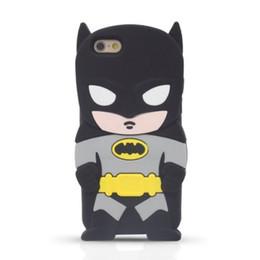 Wholesale Galaxy Stylus - 3D Cartoon Batman Silicone Case For iPhone 6 6S Plus Samsung Galaxy S5 S6 Edge Note5 Grand Prime G530 J1 LG G Pro Lite D680 G3 Stylus D690