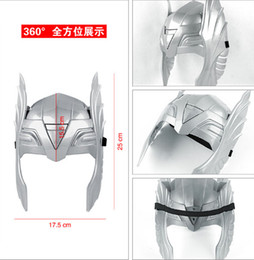 Wholesale mask avengers - Marvel's Avengers Thor Mask men women children masked ball Party Halloween event superhero cartoon Cosplay PVC Mask silver Christmas gift