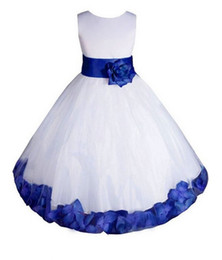 Pavimento Tulle Vintage Pageant White Princess Flower Flower Girl Dresses For Weddings Ball Holy Abiti da prima comunione per ragazze Abiti per bambini da
