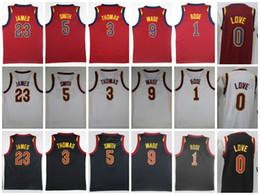 Wholesale Love Jerseys - 2018 NEW 23 LeBron James Jersey 9 Dwyane Wade 5 JR Smith 1 Derrick Rose 3 Isaiah Thomas 0 Kevin Love Stitched College Basketball Jerseys