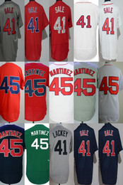 Wholesale Toddler Sale - 2017 Cheap Wholesale Mens Womens Kids Toddlers Boston 45 Pedro Martinez 41 Chris Sale Blue Gray Red White Green Stitched Baseball Jerseys