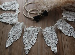 Wholesale Bridal Lace Yard - Venise Style white Lace Trim for Bridal, Millinery, Wedding Dresses, Sashes, Jewelry or Garments - 5 yards lot - Free Shipping
