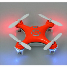 Wholesale Remote Toys Plane - 2015 New arrival CX10 orange Mini remote control helicopter Quadcopter Gyro plane model aircraft toy CX10 rc helicopter rc Helicopter drones