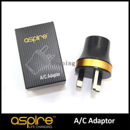 Wholesale usb cigarette adaptor - 100% Original E Cigarette Wall Adaptor Aspire UK USB Charger Wall Charger USB Charger For Electronic Cigarette, Cheap Aspire UK Plug Sale