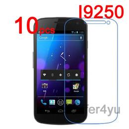 Wholesale Galaxy Nexus Lcd - Wholesale-10pcs Anti-scratch CLEAR LCD i9250 Screen Protector Guard Film For Samsung Galaxy Google Nexus i9250 Protective Film +Cloth