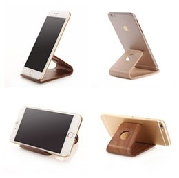 Wholesale Sumsung Galaxy Cell Phones - Quality Real Wood Stand Modern Art Wooden Mount Holder Case For Cell Phone Sumsung Galaxy S6 iphone 6s i7 Xiaomi Box Mod Display Stand Gift