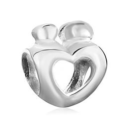 Wholesale Cheap Chamilia Charms - 10 pcs per lot Cheap Alloy Heart Love European Bead Fit Pandora Chamilia Biagi Charm Bracelet