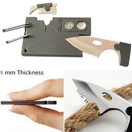 Wholesale Card Folding Tool - 2016 Fashion New 10 in 1 Multi Purpose Pocket Credit Card Survival Knife Outdoor Hunting Camping Tools Free Shipping, Wholesale