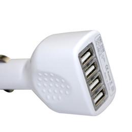Cargador de coche samsung teléfono móvil online-Nuevos cargadores de teléfonos móviles negros / blancos 4 usb coche Cargador micro Mini cargador USB Cargador de coche para iphone 5 5s 6 ipad