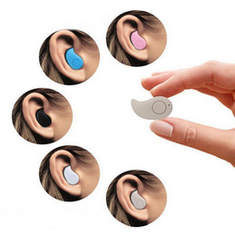 headphones small ears Coupons - S530 Mini Wireless Bluetooth Earphone Stereo Light Stealth Headphone Headset Earbud With Mic Ultra-small Hidden Universal For iPhone Samsung