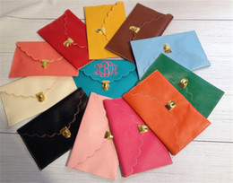 Wholesale Cluth Purse Wholesale - Wholesale-10pcs lot Personalized envelope clutch purse with scalloped edge cluth bag