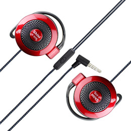 Wholesale Iphone Noise - Shini S520 Ear Hook Headset Earphone Headset Sport Music Headphone with Microphone for Samsung Xiaomi iPhone All Mobile Phone