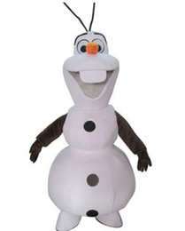 Wholesale Mascot Costumes Sale - Hot sale 2017 fast shipping Frozen Olaf Snowman Mascot Costume for Adult Wholesale Winter Dress Free Shipping