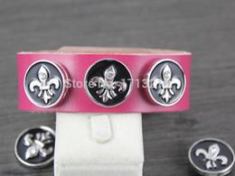 Wholesale Elasticity Bracelets - Wholesale-20pcs DIY Snap Button charm Wholesale ginger snaps bracelets Elasticity Bracelets fit 18MM snaps buttons fit snaps buttons