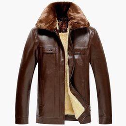 Wholesale Suede Jacket Fur Collar - Fall-mens leather jackets and coats 5xl mens suede jackets and coats genuine sheep skin leather winter jacket men fur collar