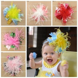 kids fur headbands Promo Codes - baby big christmas hair bows fur flowers  hair accessories animal 3d04c1071e4