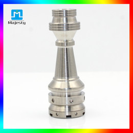 Wholesale I Smoking - Domeless Titanium 14mm 18mm Newest Fully Adjustable Male or female for D I Y Glass Hookah Smoking