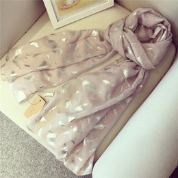 Wholesale Fantasy Feathers - 2017 new autumn winter scarf hot silver fantasy feather scarf shawl lengthened high-end washed scarves