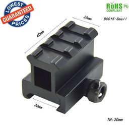 Wholesale High Scope Mounts - 20mm scope rail mount High Profile Riser Mount with 3 slots scope mount Extensio 20mm Dovetail rail extension rise mounts - D0015-Small