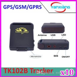 Wholesale Mini Gps Tracker Auto - 10pcs 2015 New Arrival GPS Tracker TK102B Mini GPS Tracking Device Auto Car Pets Kids Motorcycle Tracker ZY-DH-05