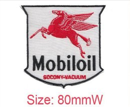 Wholesale Wholesale Customized Patches - 2016 new Mobiloil cool embroidery patch personality Iron on accessories low price embroidery can be customized