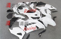 Wholesale Zx14r Custom - Painted white and black custom plastic injection molding fairing Kawasaki ZX-14R Ninja 2012-2014 56