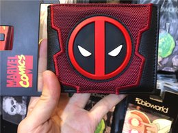 Wholesale Korean Girl Wallets - Deadpool wallet animated cartoon fashion brand purse Young boys and girls purse personality Man purse
