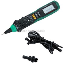 Wholesale Voltage Tester Free Ship - Free shipping MASTECH MS8211D Pen Type Auto Range Digital Multimeter DMM AC DC Voltage Current Tester Meter Logic Level Test order<$18no tra