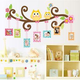 Deutschland Maskottchen Eule Bilderrahmen Wandtattoo Aufkleber Bunte Eulen Fotorahmen Wandbilder für Kinderzimmer Kindergarten Versorgung